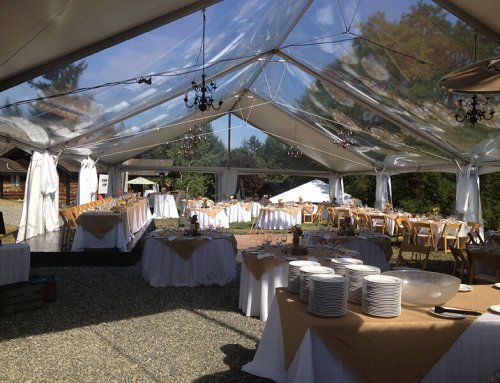 Wedding garden tent with sky roof