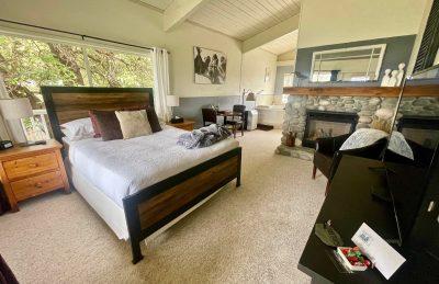 Tree Tops Room Riverrock Fireplace